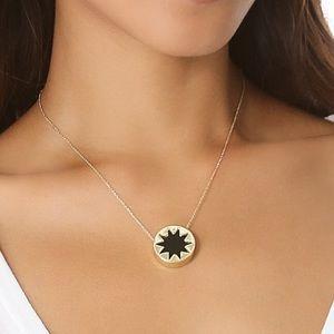 House of Harlow 1960 Mini Black Sunburst Necklace